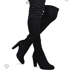 Black high heel over knee